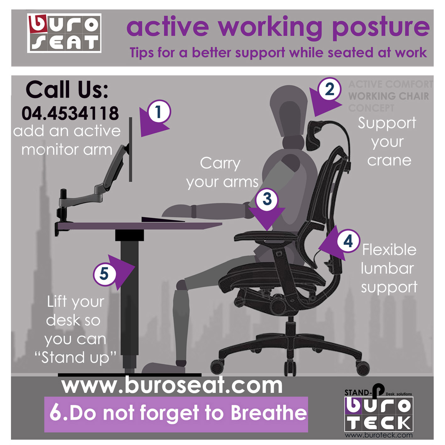 Back Support For Office Chair Dubai Chairs Amp Seating